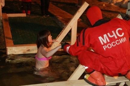 Крещенские купания в Балаково безопасность превыше всего