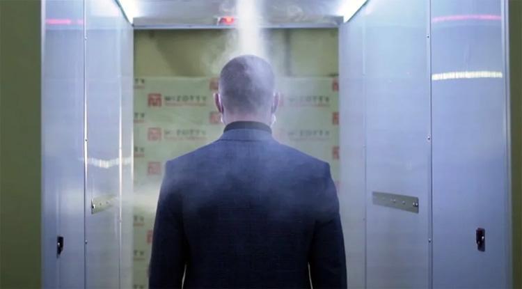 Через туман к президенту для Путина установили три дезинфекционных туннеля