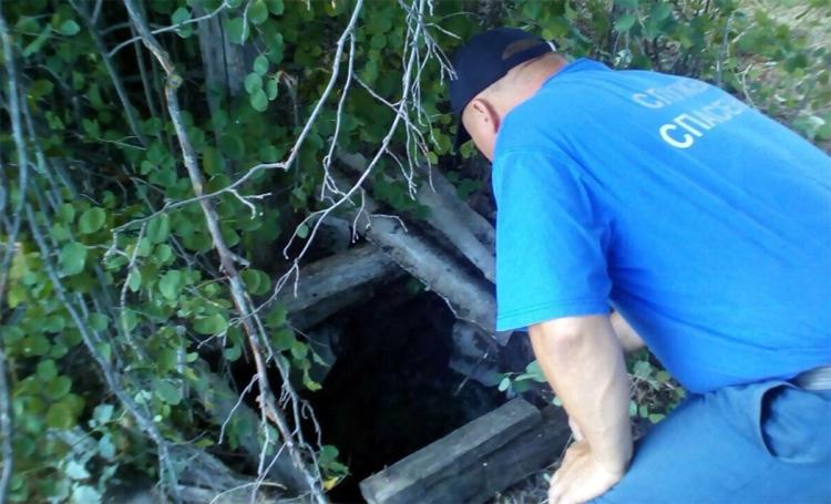 Вольские спасатели достали из восьмиметрового колодца корову