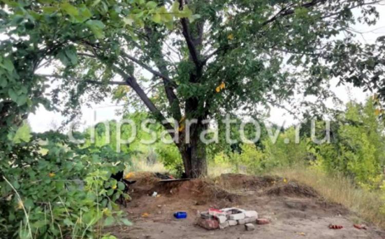 В Саратове мужчину под деревом ударило молнией