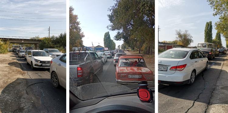 Пробки на дорогах балаковцы добираются в Ивановку через свалки