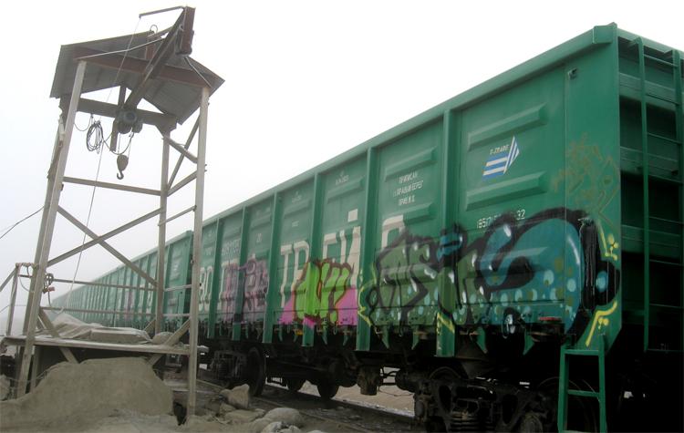 Рисовать на вагонах поездов в Балаково стало не модно