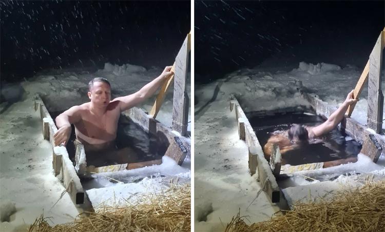 Морозы не остановили балаковцев от купания в проруби на Крещение
