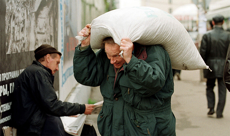 Как в Балаково зарплату мешками давали