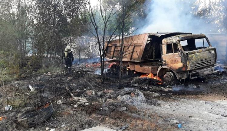 В Балаково сгорели «Баларус» и КамАЗ