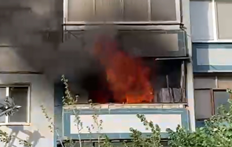 В Балаково горела однокомнатная квартира
