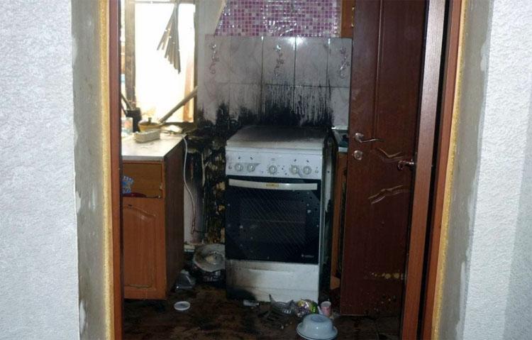В Натальино Балаковского района на пожаре пострадала женщина