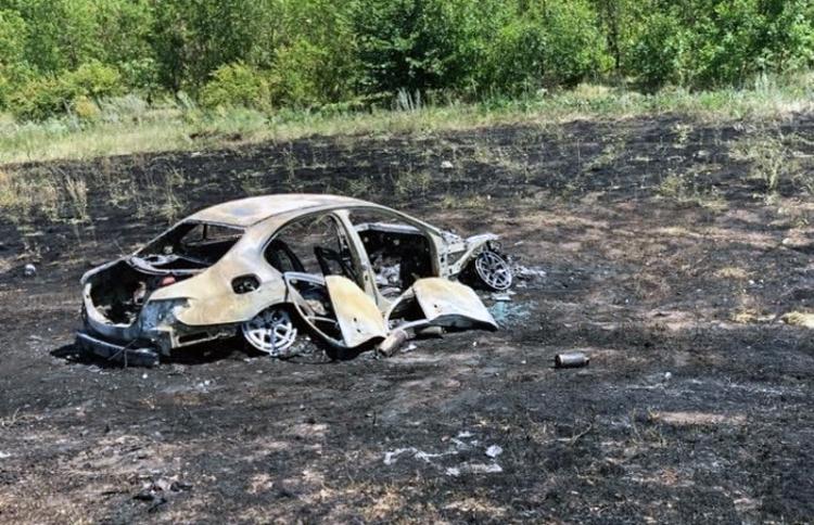 В ДТП под Алексеевкой сгорел автомобиль и погиб водитель