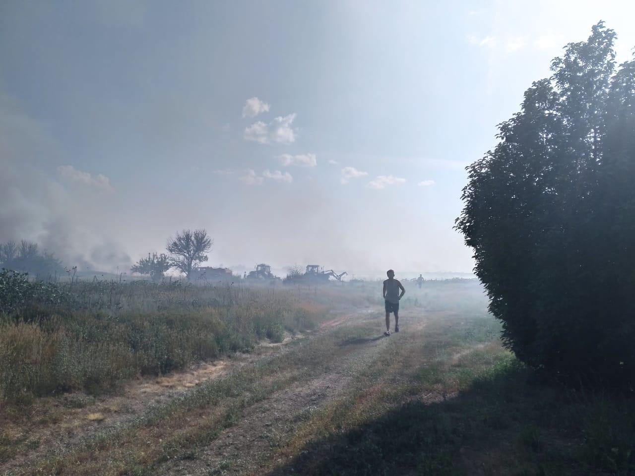Село Малое Перекопное удалось отстоять от огня всем миром